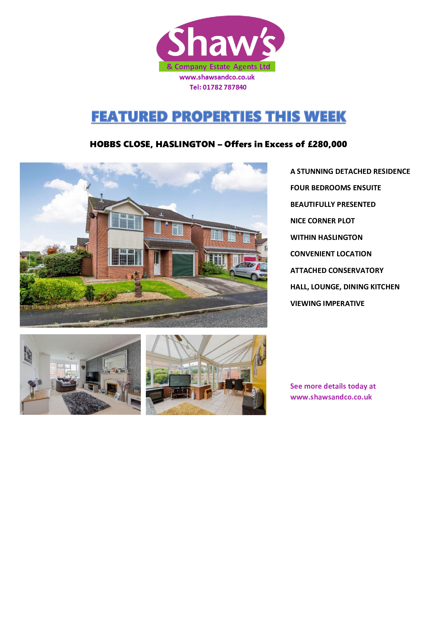 NEW & FEATURED PROPERTIES OF THE WEEK