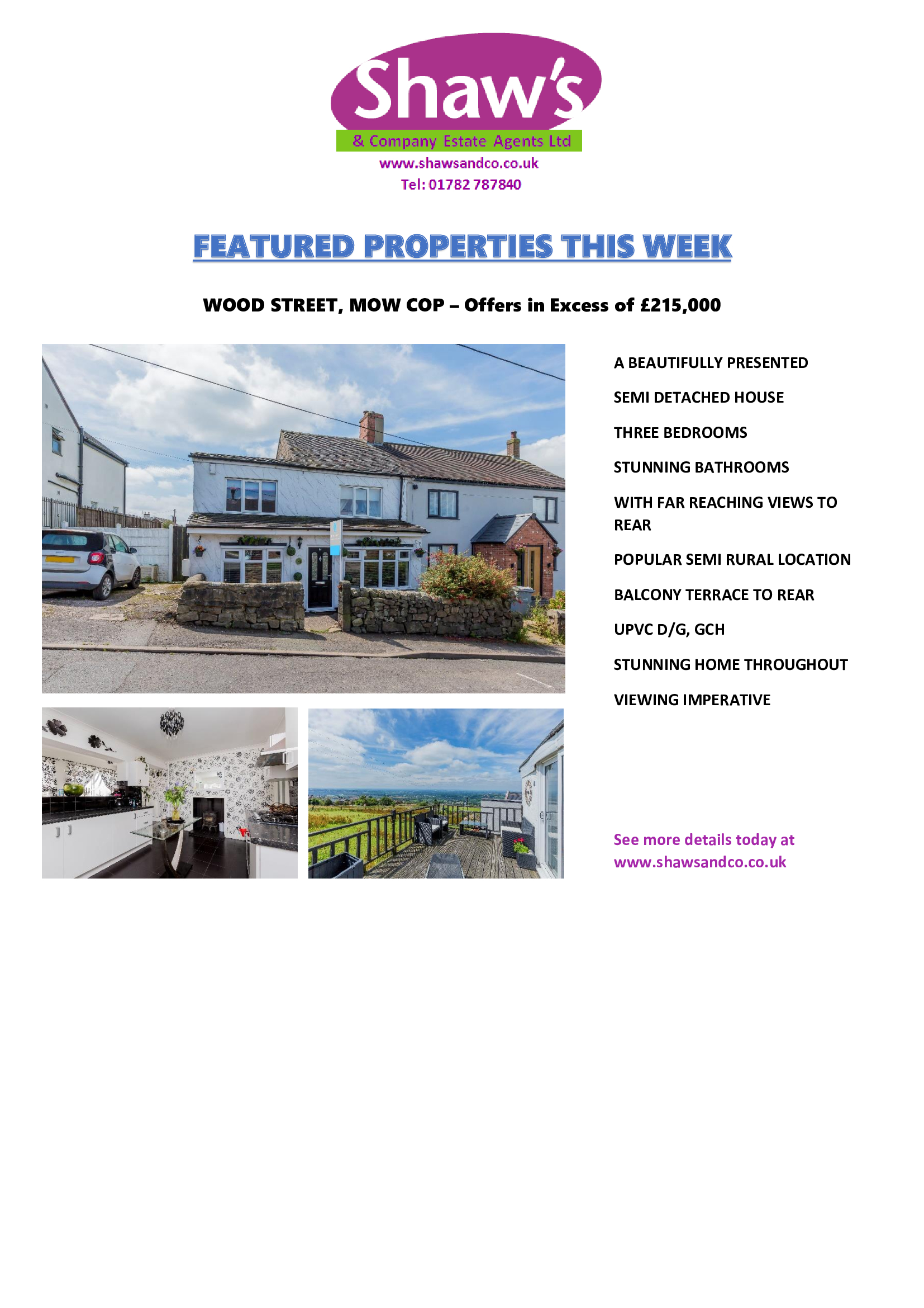 SHAW'S & CO - FEATURED PROPERTIES THIS WEEK