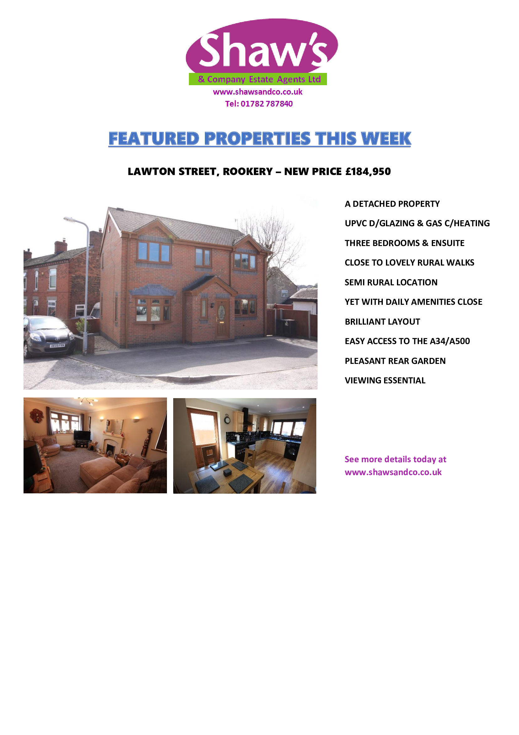 FEATURED PROPERTIES OF THE WEEK!